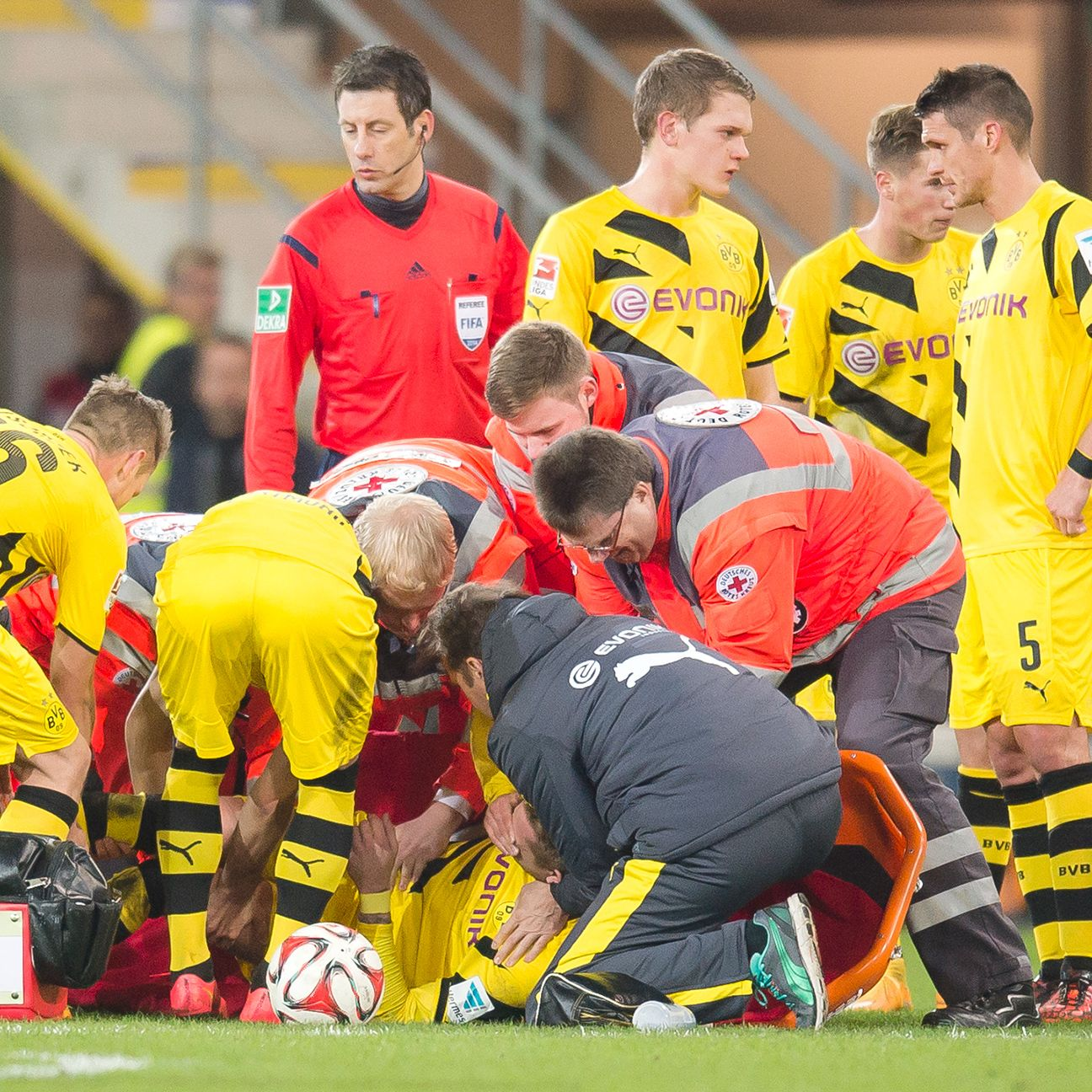 The injury bug has struck Borussia Dortmund again, with Marco Reus forced to leave Saturday's 2-2 draw against Paderborn.