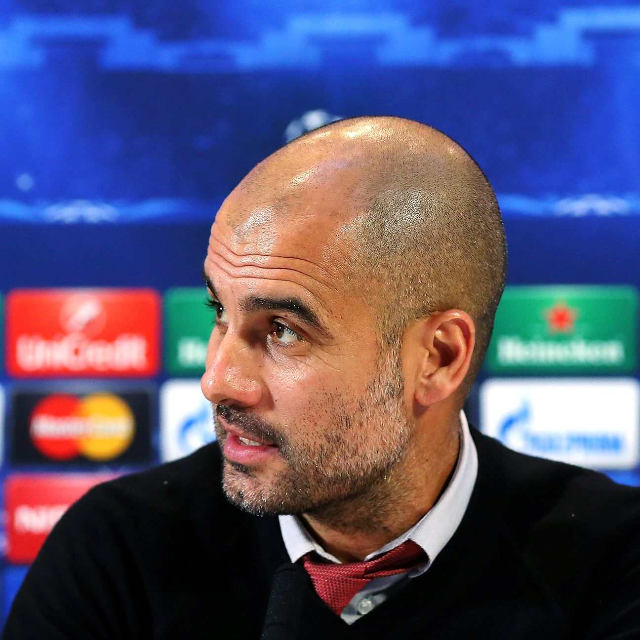 The spotlight always seems to find Bayern boss Pep Guardiola whenever he is in England.
