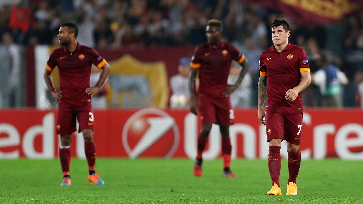 Roma's 7-1 home defeat to Bayern is one of several lopsided results in this season's Champions League.