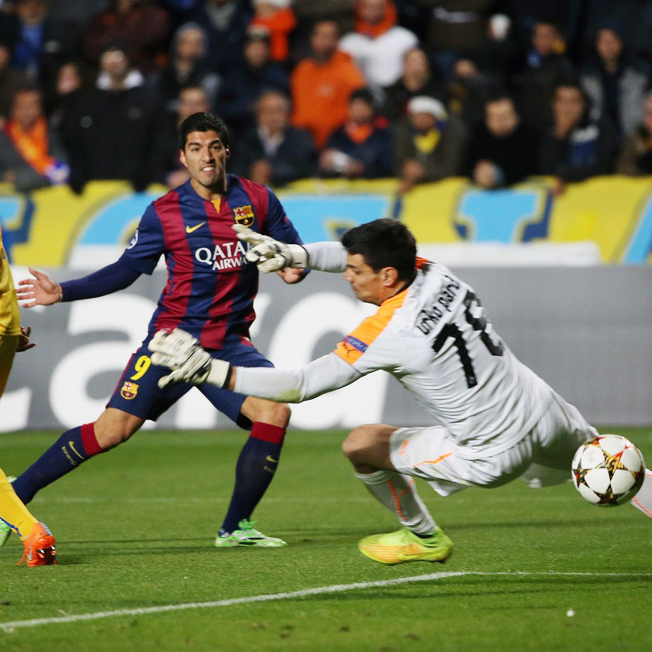 Luis Suarez got Barcelona rolling early against Apoel with a finely taken shot in the 27th minute.