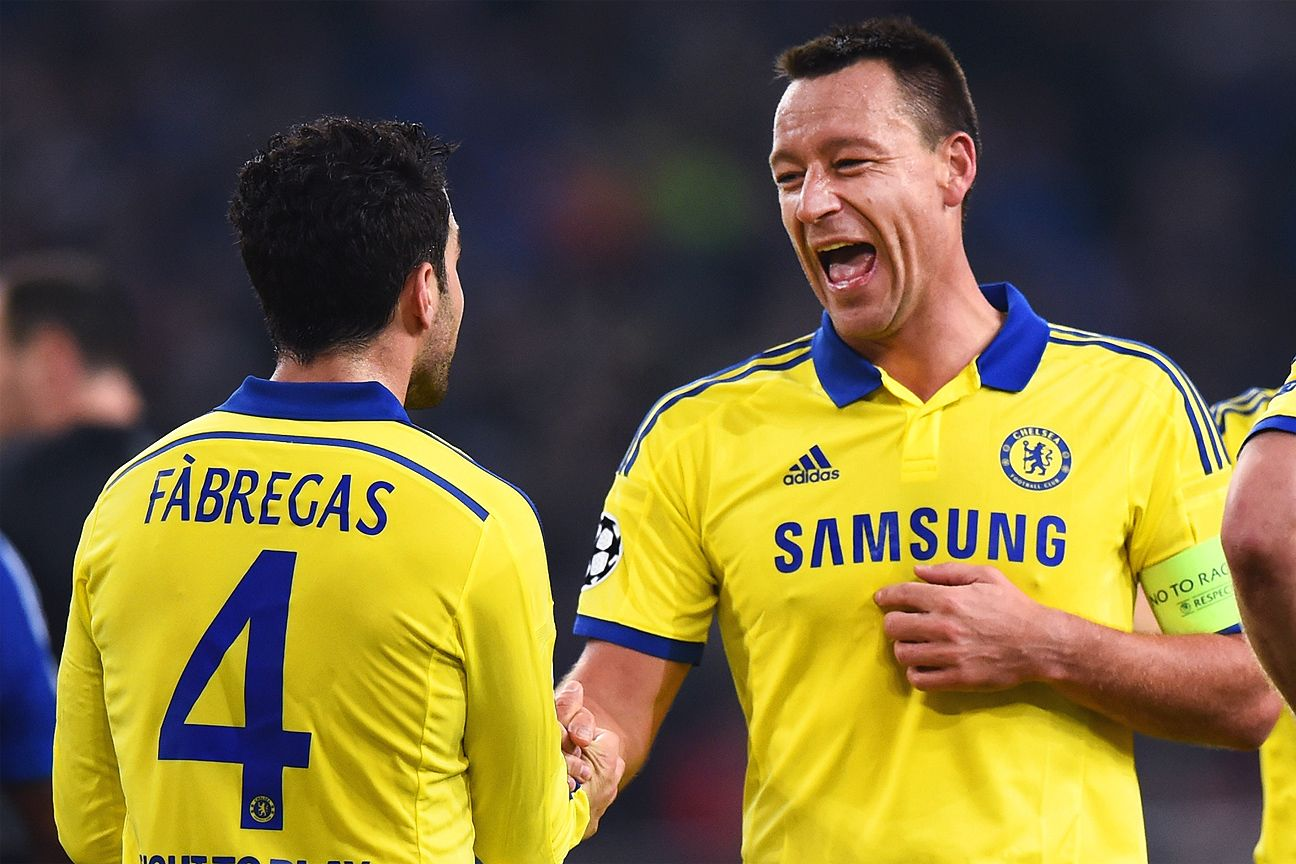 John Terry and Chelsea had every reason to smile as he and Cesc Fabregas guided the Blues to an emphatic Champions League win at Schalke.