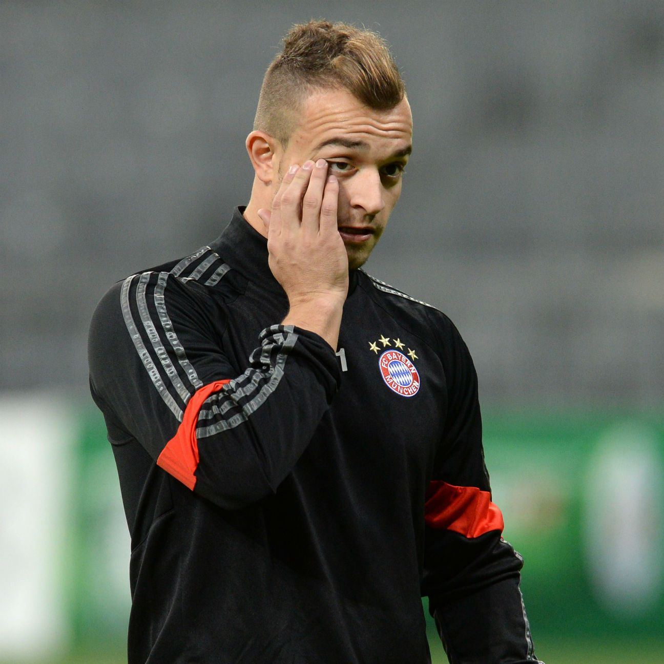 Most of Xherdan Shaqiri's time at Bayern was spent on the bench, and not on the field.