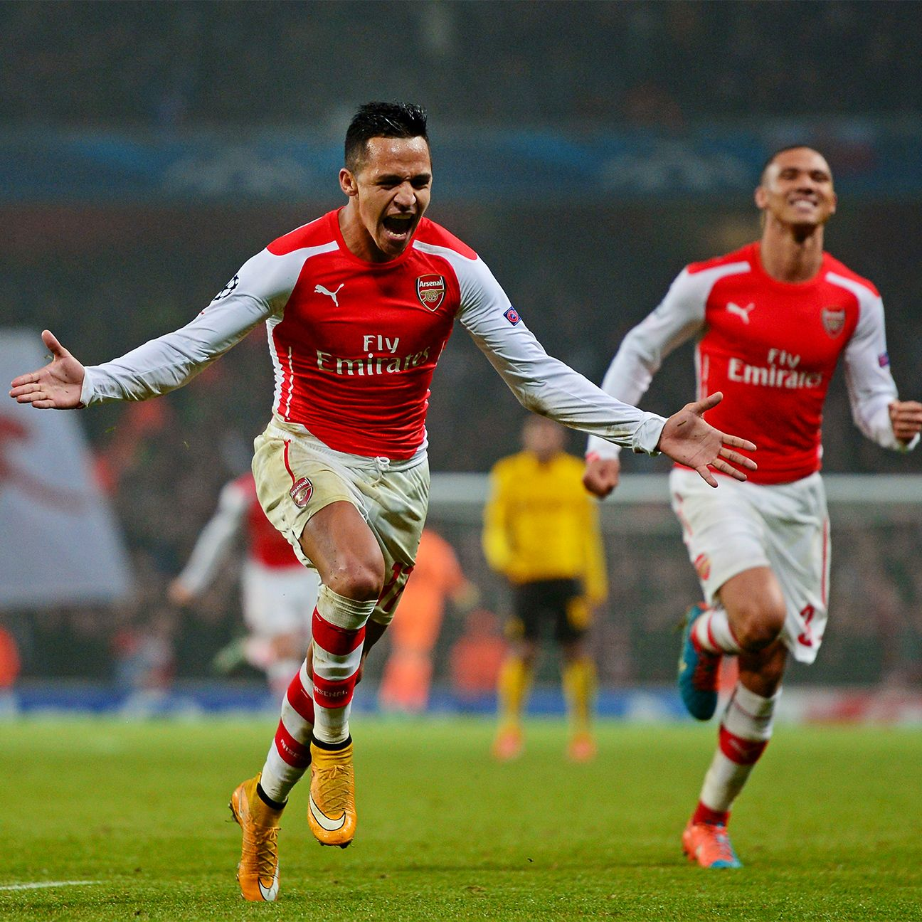Alexis Sanchez, who's tallied nine goals and five assists this season, leads the charge for Arsenal.