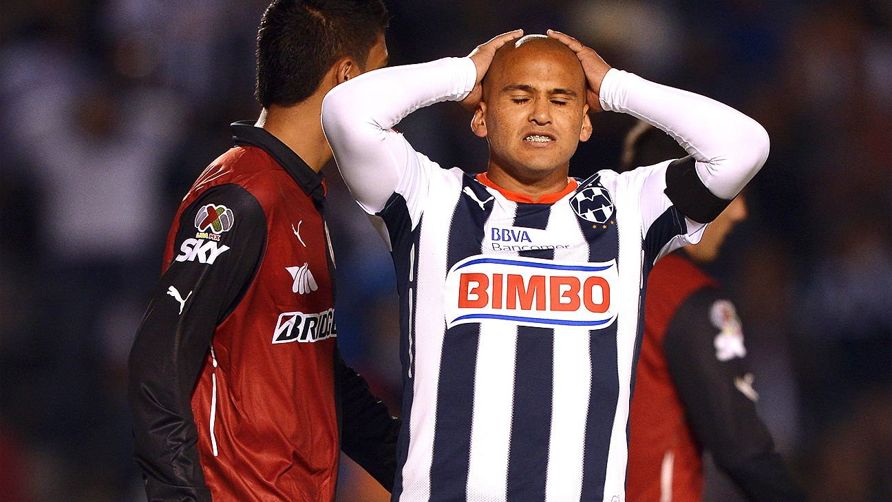 Humberto Suazo's penalty miss doomed Monterrey against Atlas.