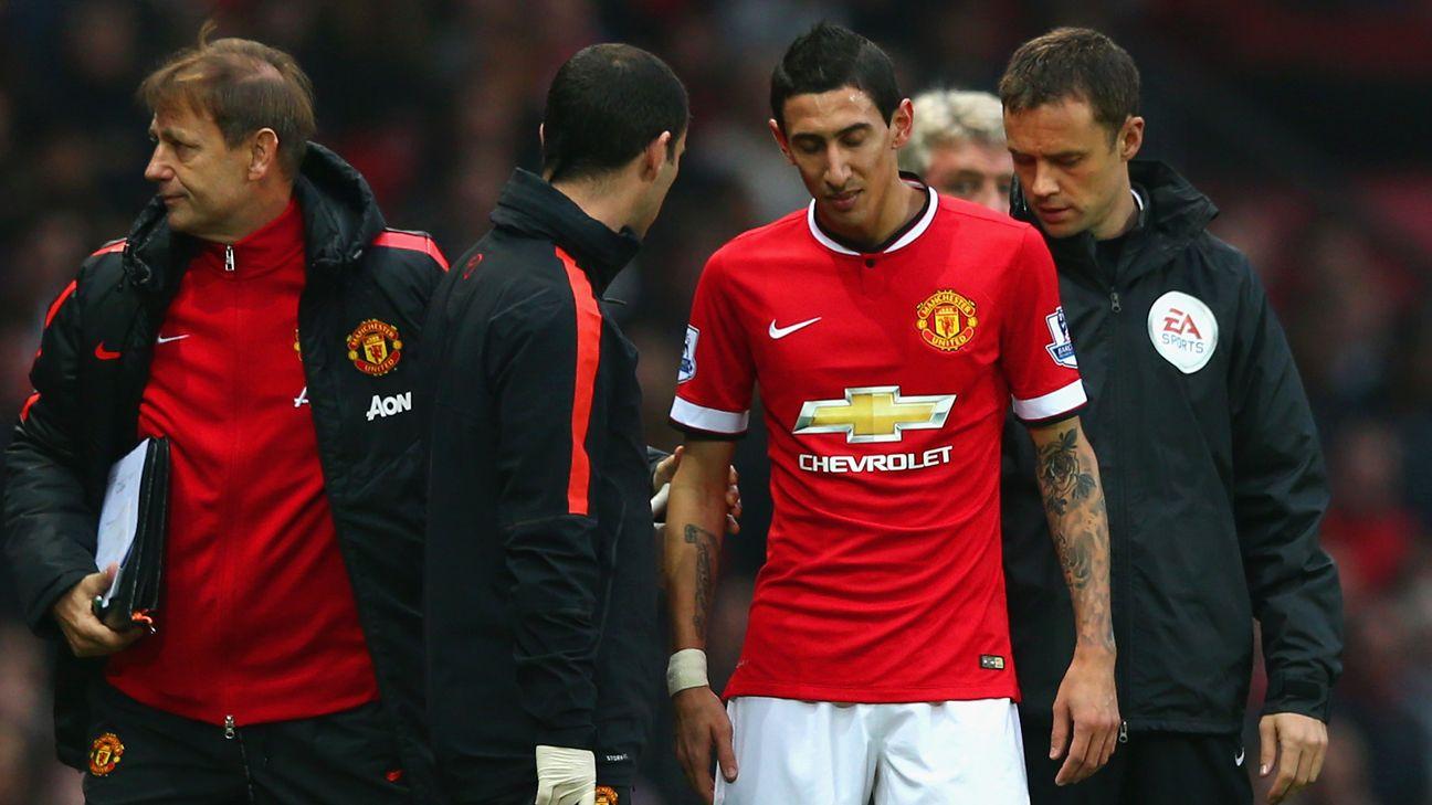 Angel Di Maria suffered pelvic injury confirms Manchester United boss Louis van Gaal