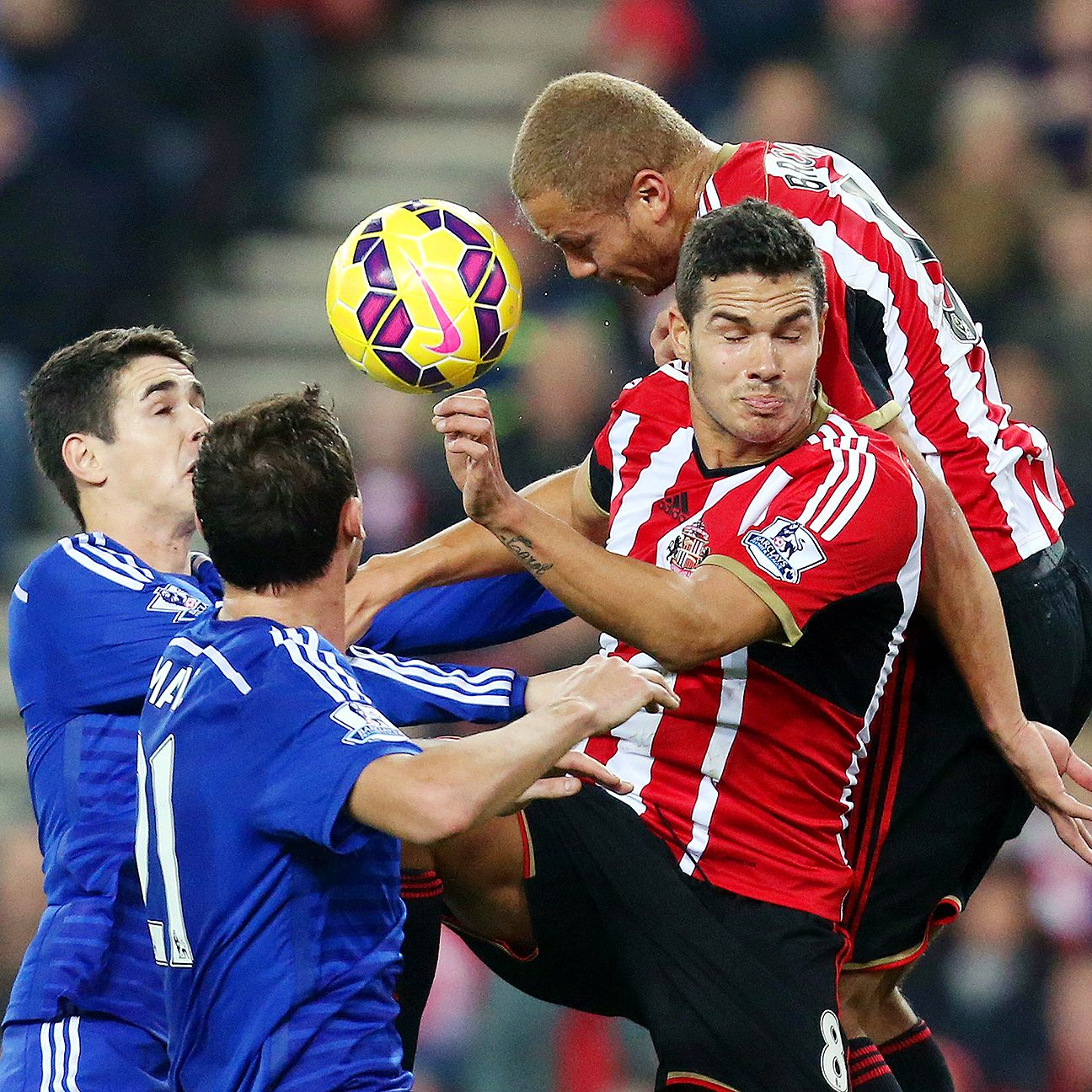 Sunderland's defenders refused to yield an inch to Chelsea's attackers.