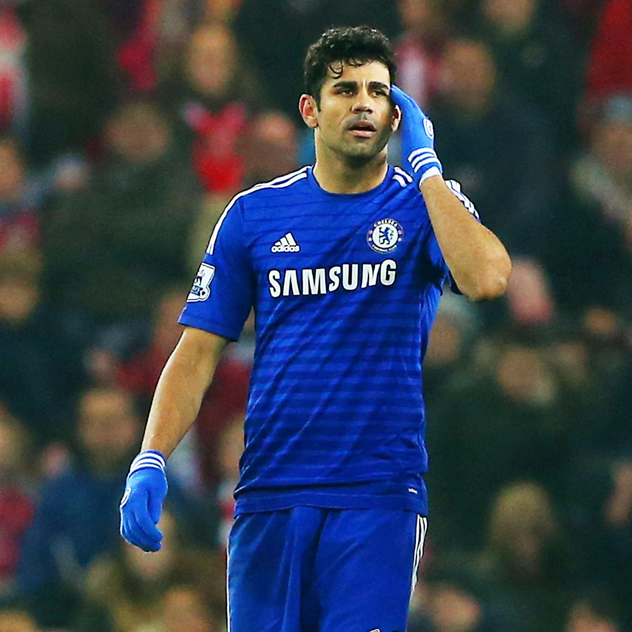 Diego Costa was left frustrated by a suffocating and physical Sunderland defence.