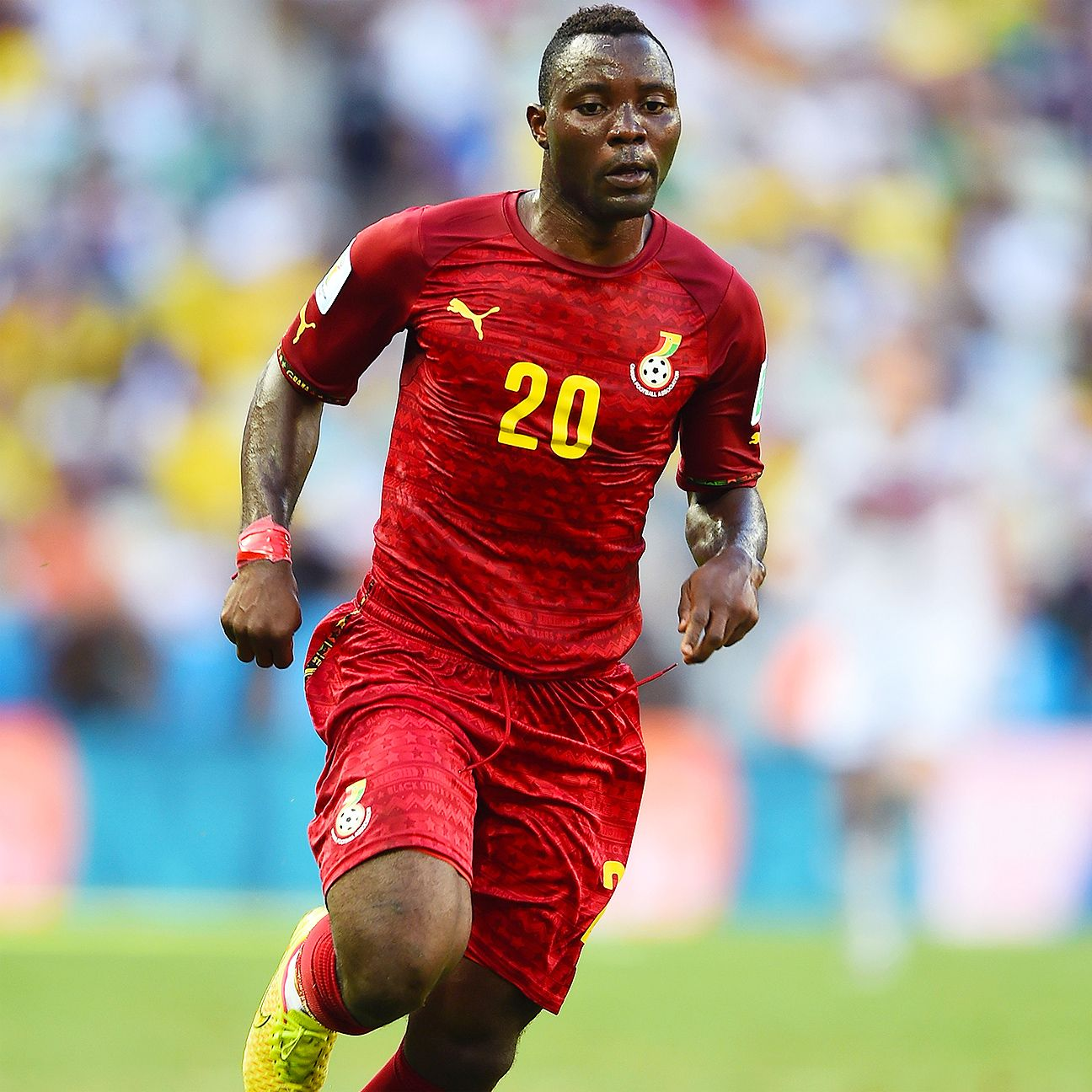 Ghana's Kwadwo Asamoah before his self-imposed international exile
