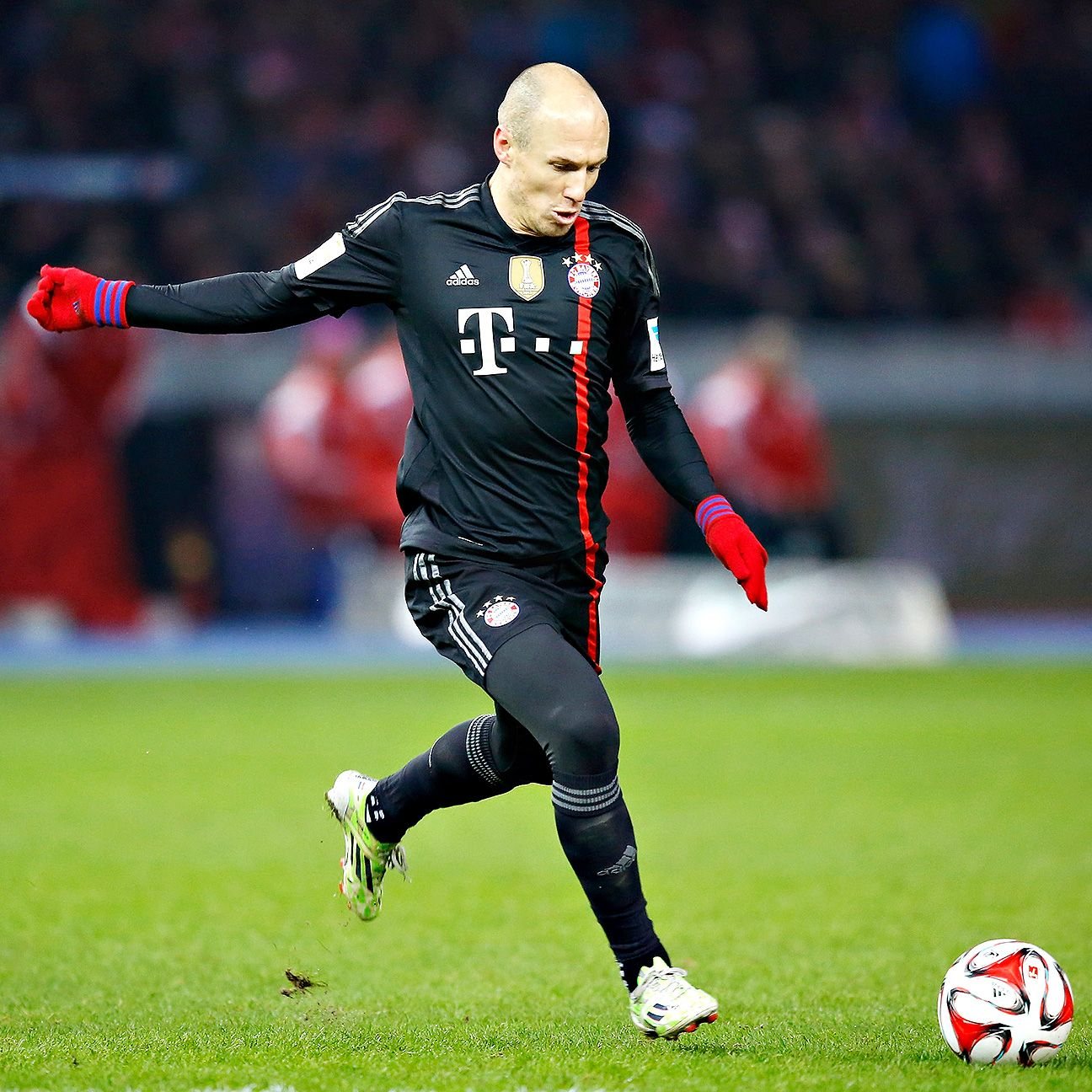 Bayern Munich have yet to be beaten in a match in the 2014-15 season during which Arjen Robben has scored.