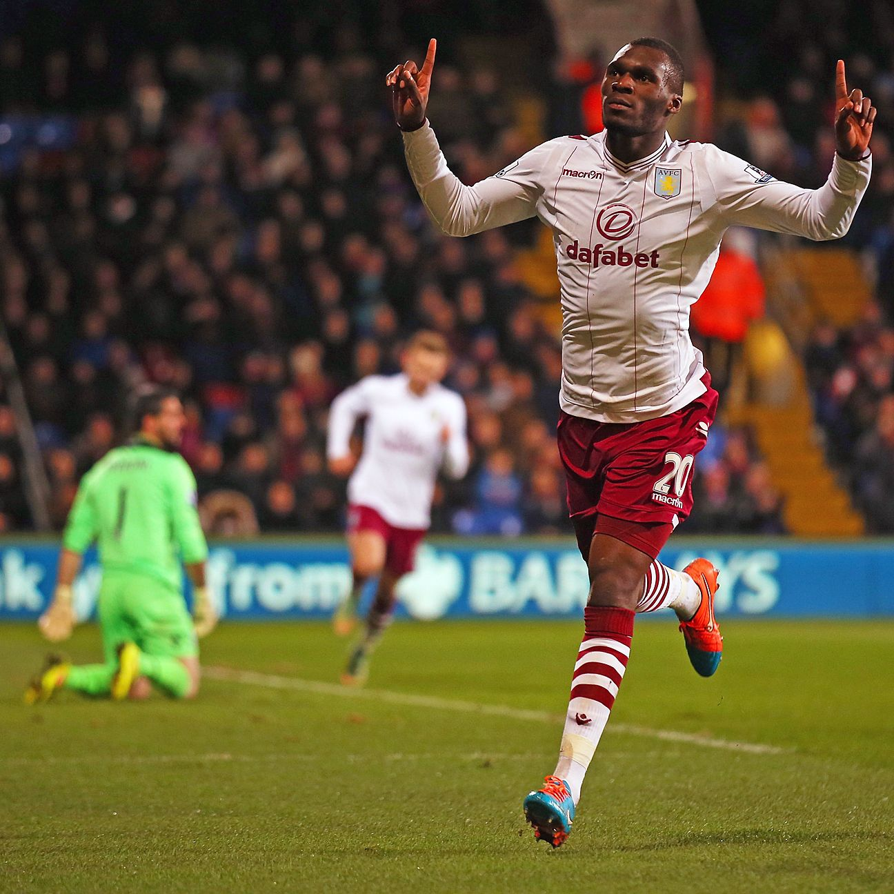 Despite being limited by injuries, Christian Benteke still finished with 13 goals in 2014-15.