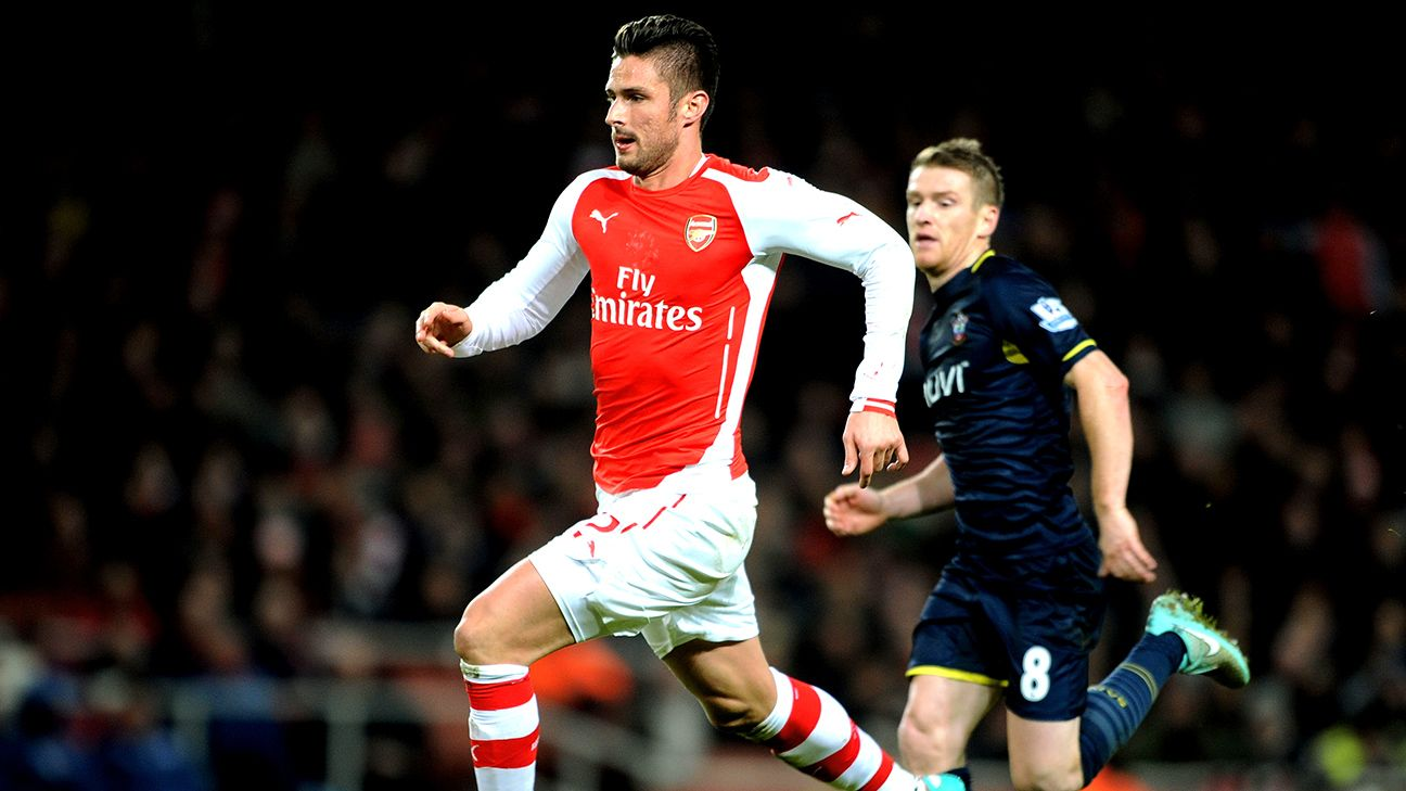 Olivier Giroud has sparked the Gunners to wins in two straight Premier League matches.