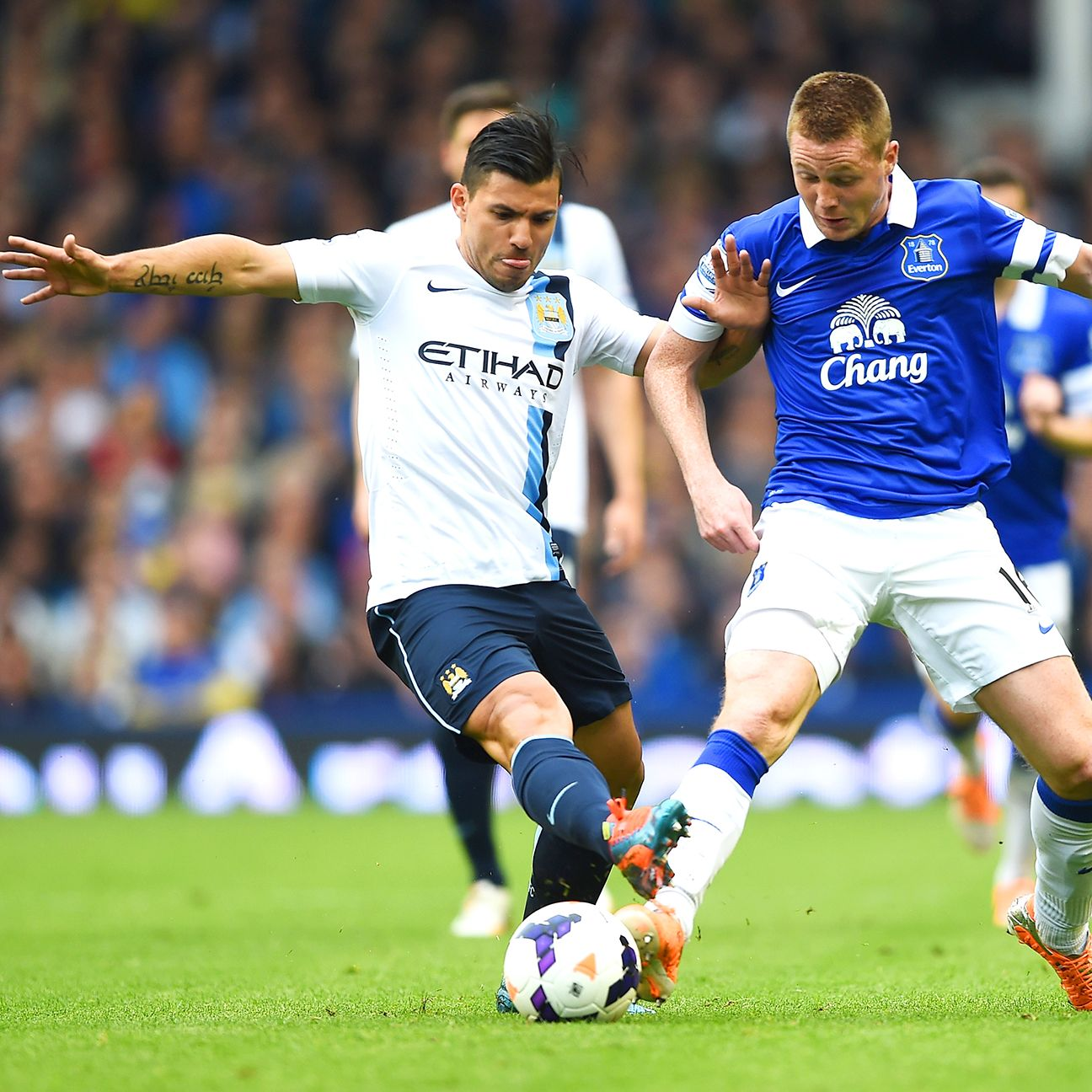 With James McCarthy out, Everton will need others to step up to help contain Sergio Aguero.