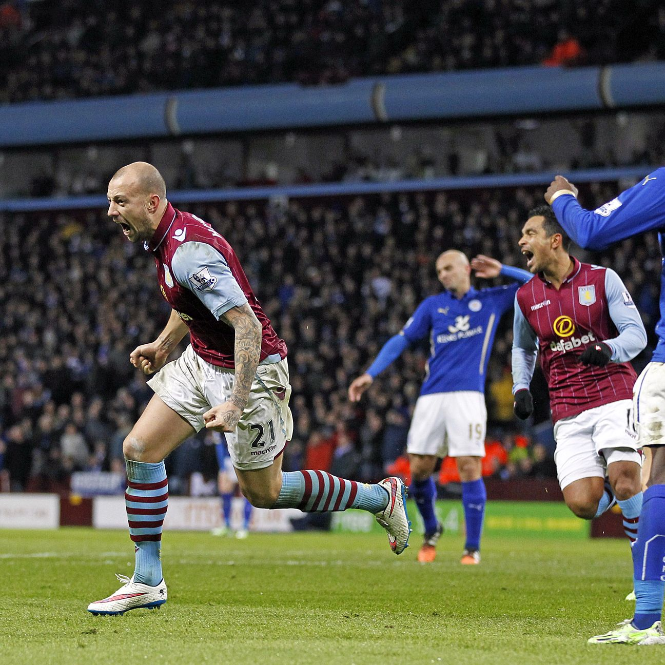 Alan Hutton capped off Villa's stellar day with the match-winner in the 70th minute.