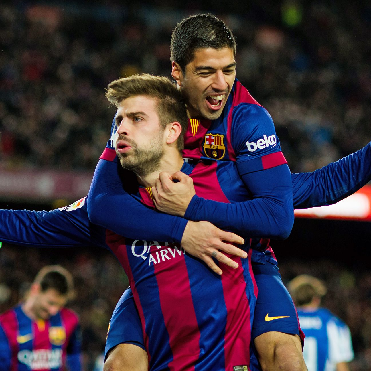 Gerard Pique's second-half header all but sealed the three points for Barcelona against Espanyol.
