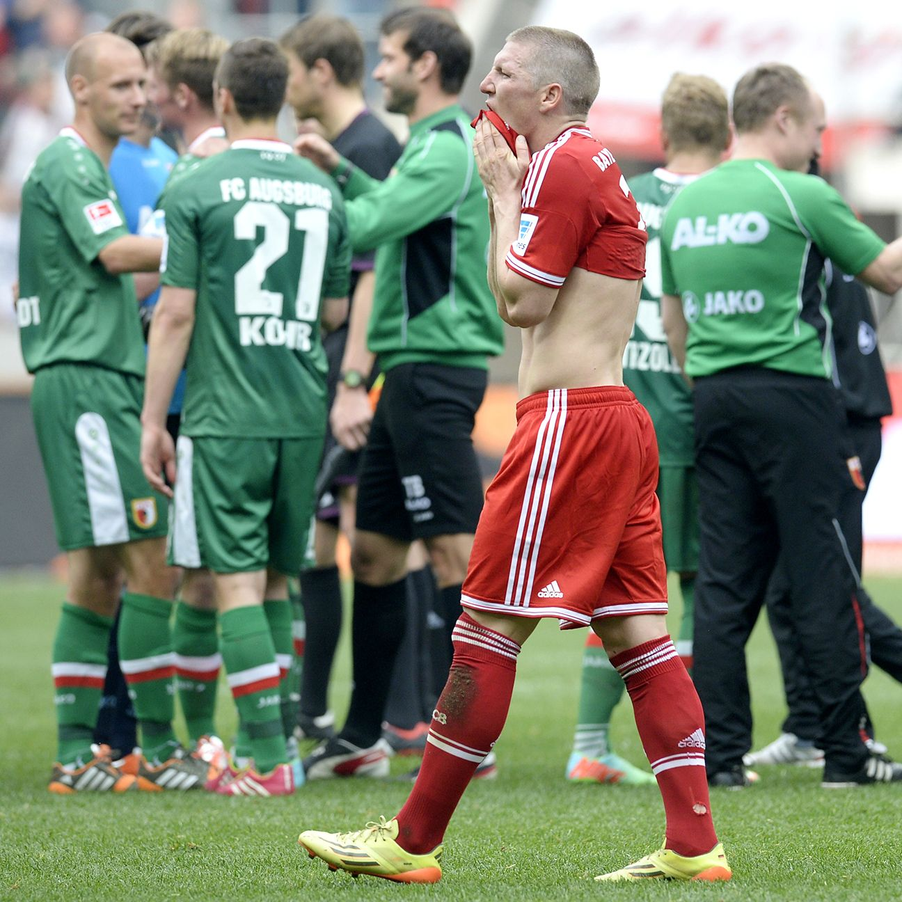 Bayern's 1-0 loss to Augsburg last season was the first of four defeats they suffered during the month of April.