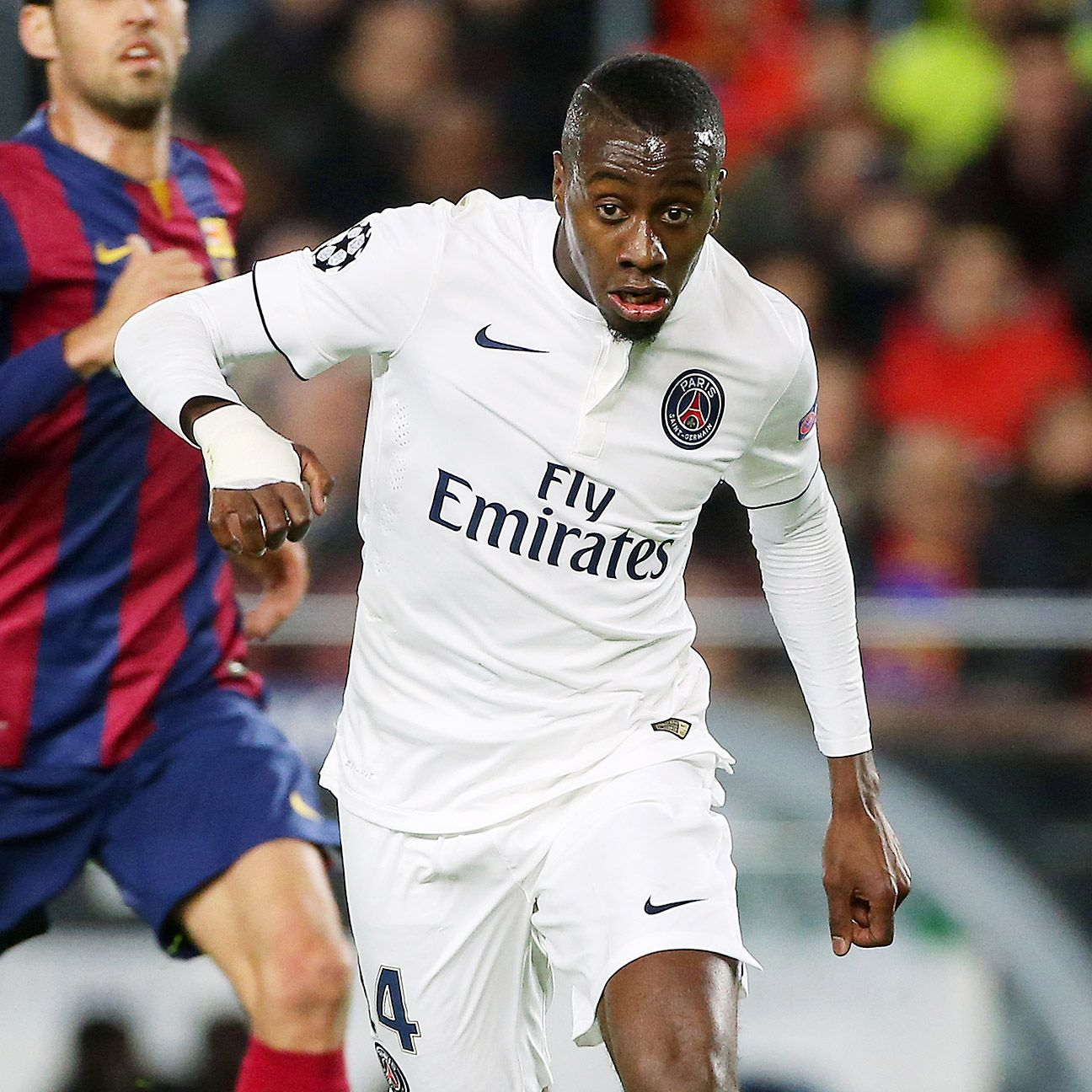 Blaise Matuidi helped set up Zlatan Ibrahimovic's opener for PSG versus Barcelona.