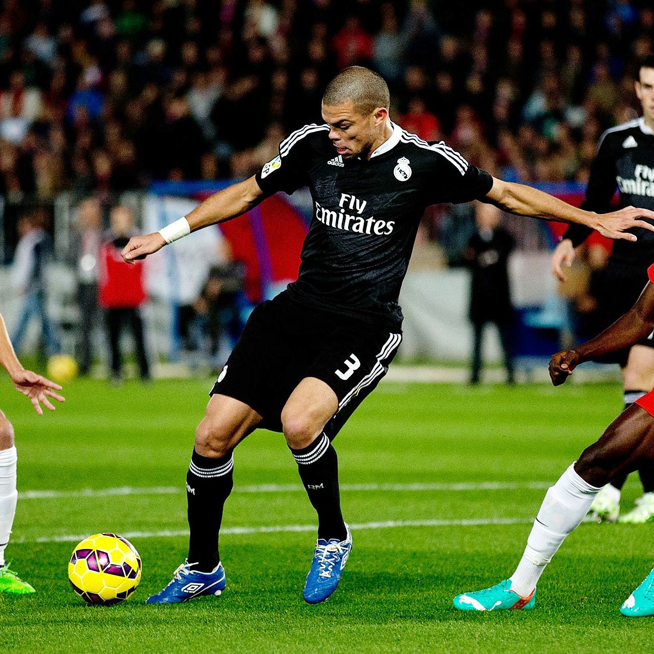 Pepe provided the necessary muscle in defense to keep Real in front at Almeria.