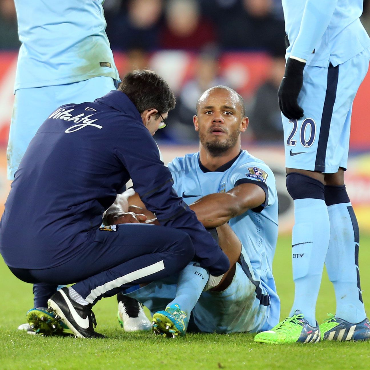 Vincent Kompany was enjoying another solid performance before having to depart due to injury.