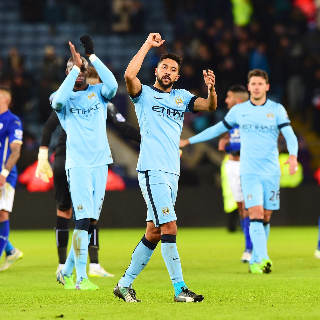 Gael Clichy and the Manchester City defence put in an assured performance in Saturday's victory.