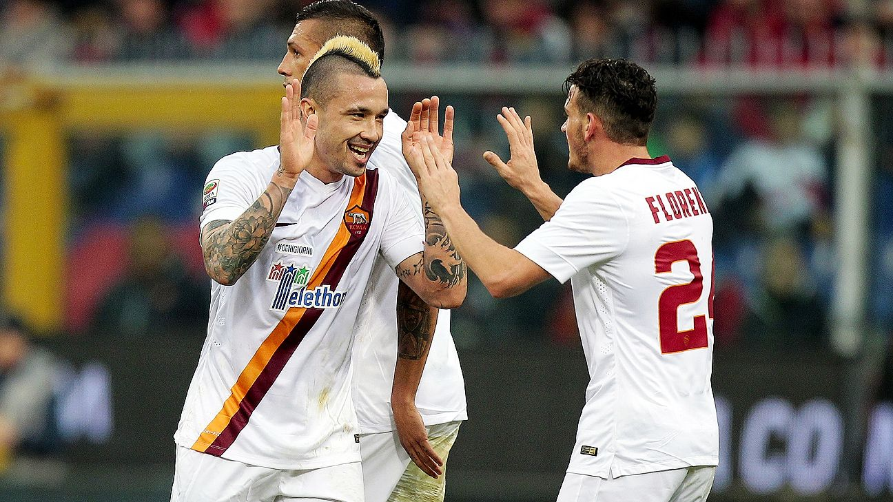 Radja Nainggolan could be making a move from Roma to Liverpool this summer.