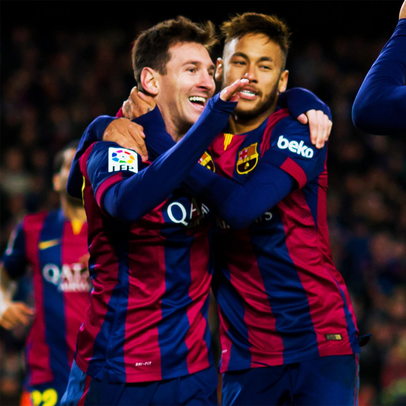 The trio of Lionel Messi, Neymar and Luis Suarez romped to unparalleled success in 2014-15.