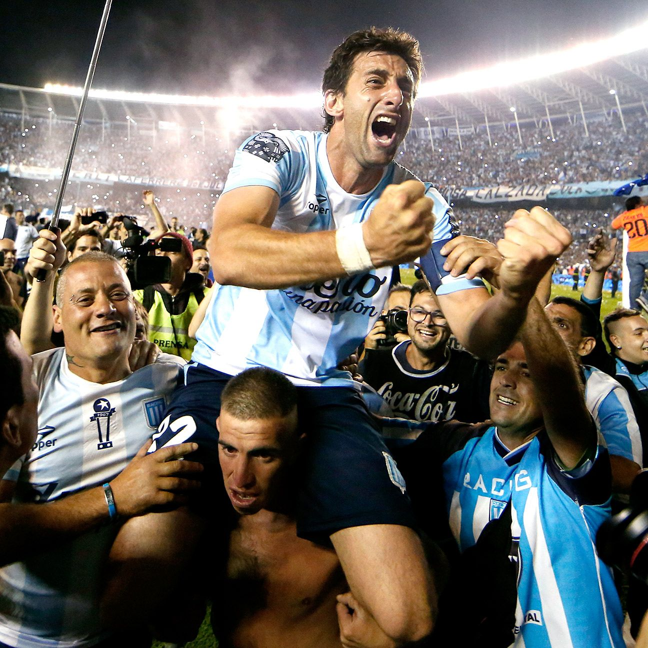 In Diego Milito's first season back in Argentina the former Inter Milan star led Racing to the title.