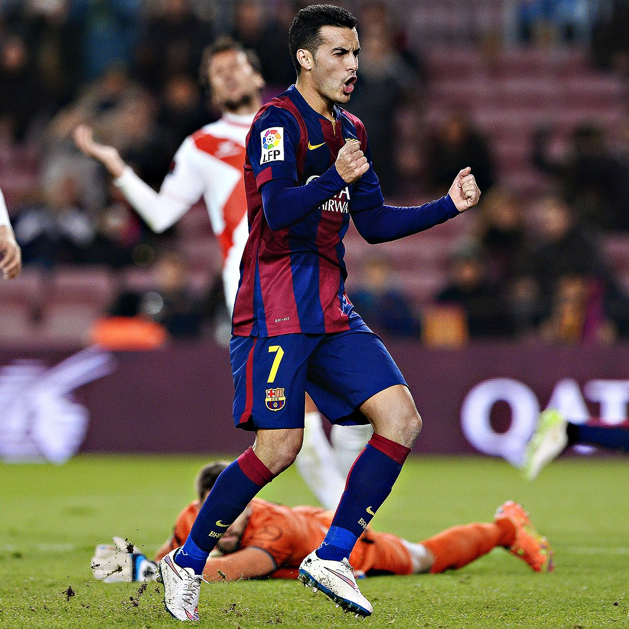 There was no stopping Pedro on Tuesday night as the Barcelona forward scored a hat trick in the first half against Huesca.