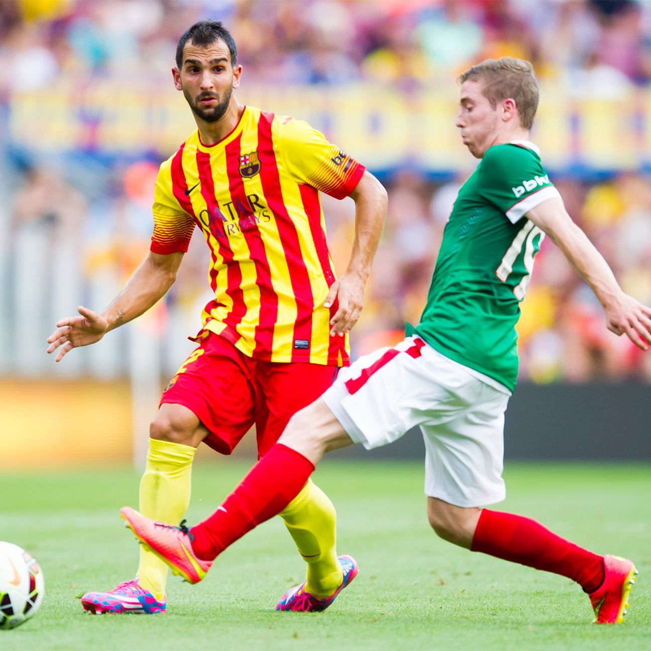 Inter Milan's summer spending continued with the addition of little-used Barcelona right-back Martin Montoya.