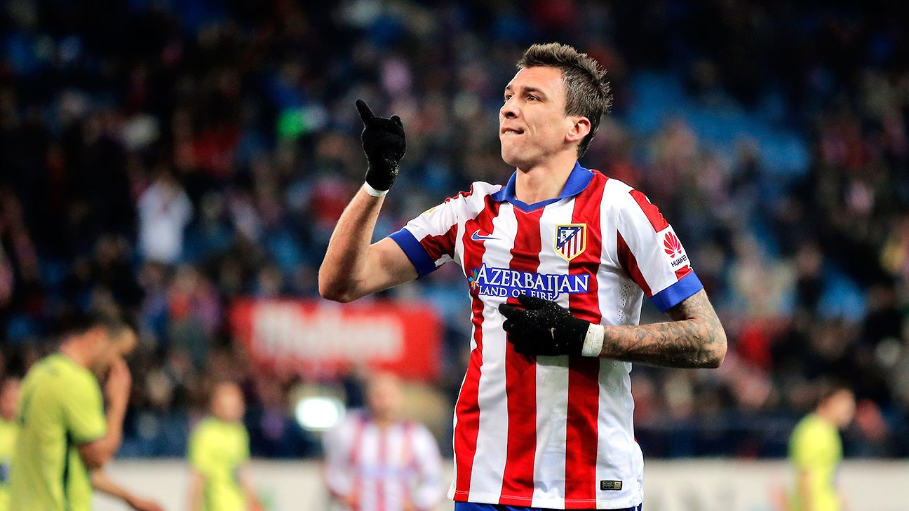 Mario Mandzukic's two-goal performance was one of the few bright spots on the night for Atletico.