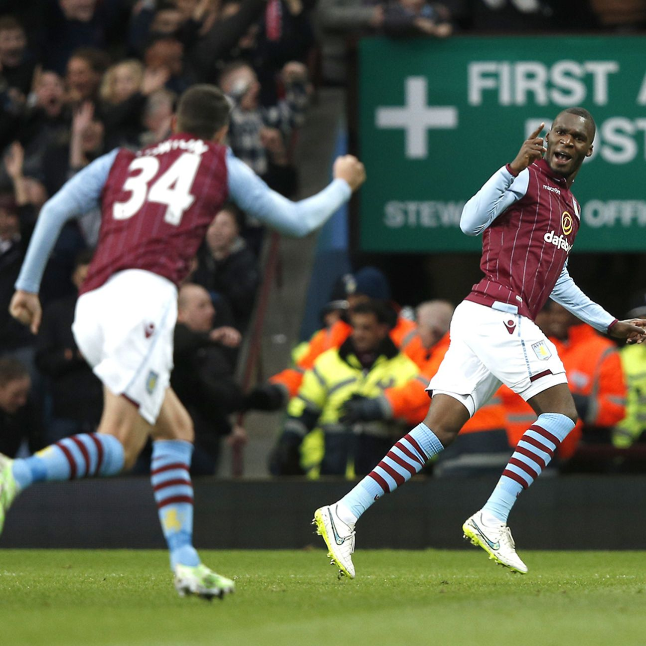 Christian Benteke's scoring celebration was a welcomed sight for goal-starved Villa fans.