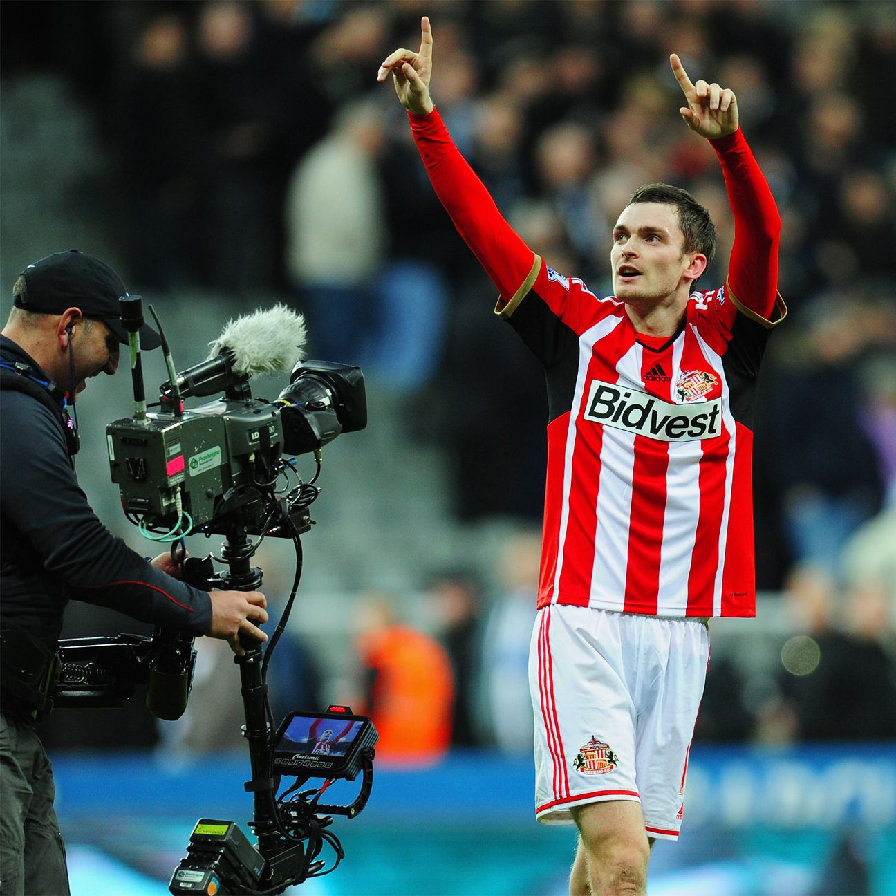 Adam Johnson's timely goal earned Sunderland a third straight St James' Park celebration.