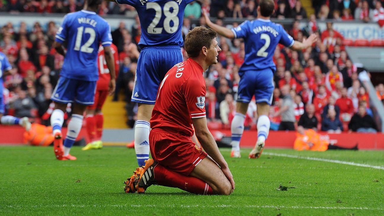 Steven Gerrard: Liverpool's 'slip' vs.Chelsea still hurts