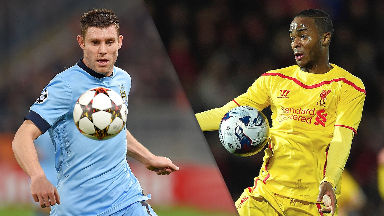 James Milner and Manchester City meet Raheem Sterling and Liverpool on Sunday.