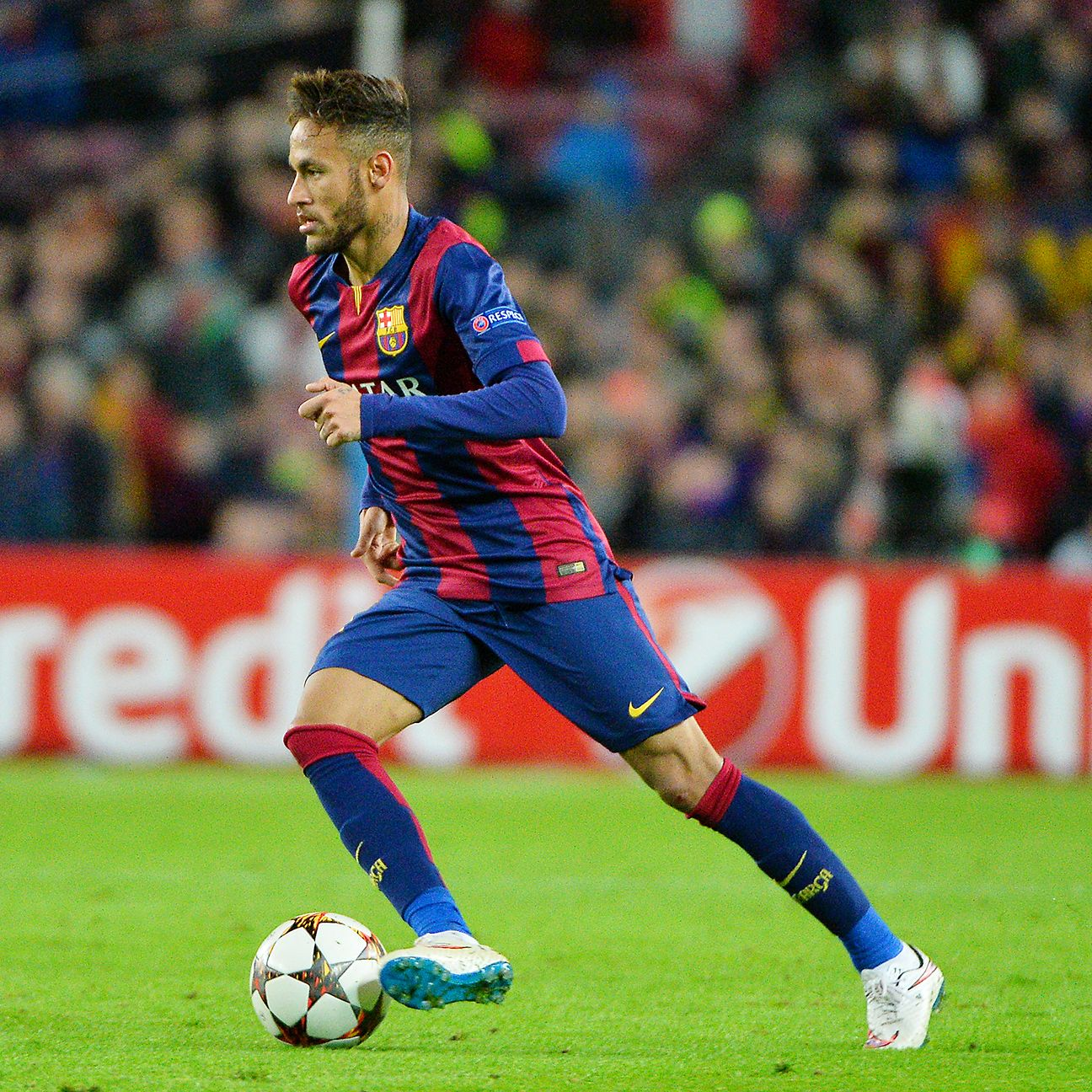 A bulked up Neymar has proven to be a bigger threat for Barcelona this season.