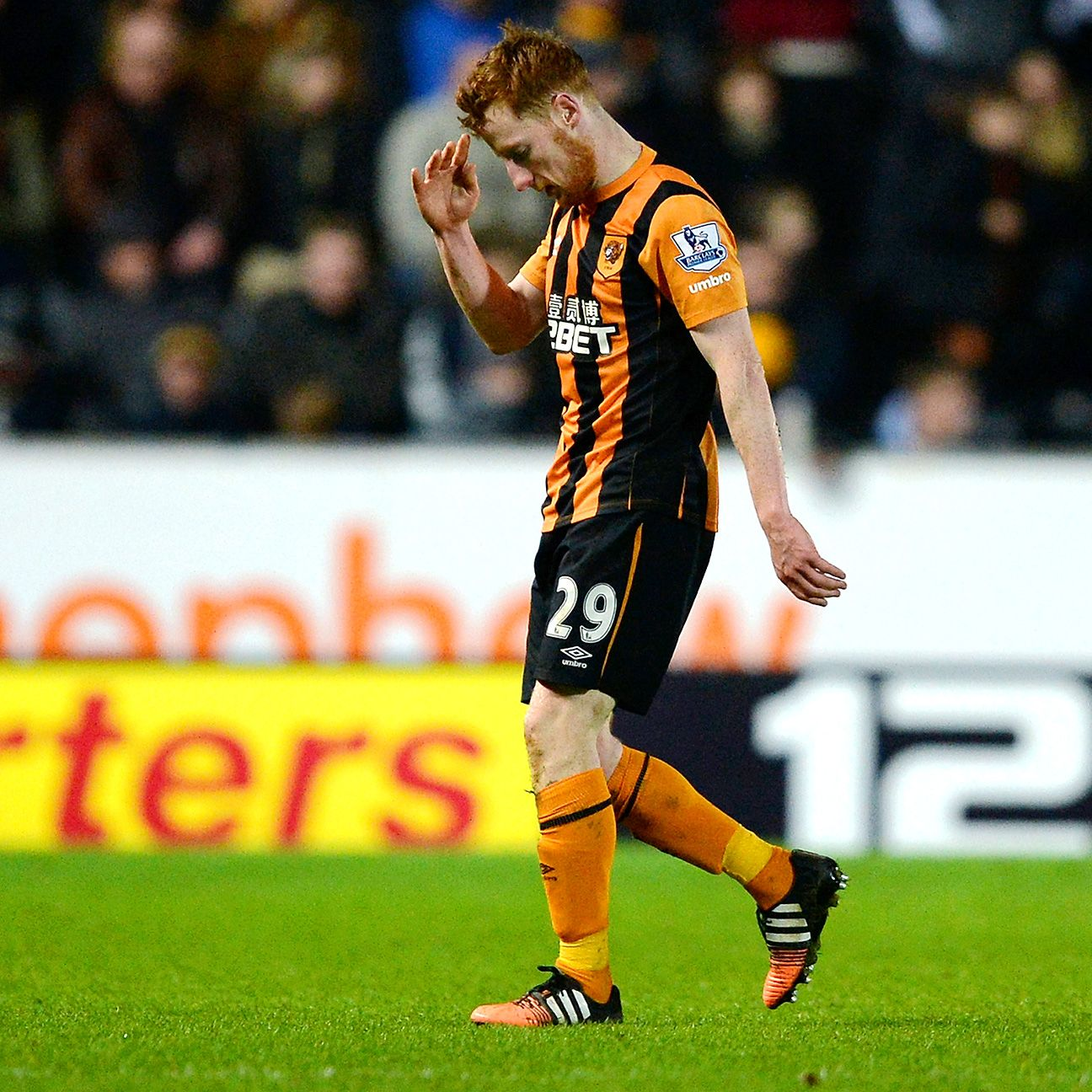 Hull City's frustrating day was capped by Stephen Quinn's sending off.