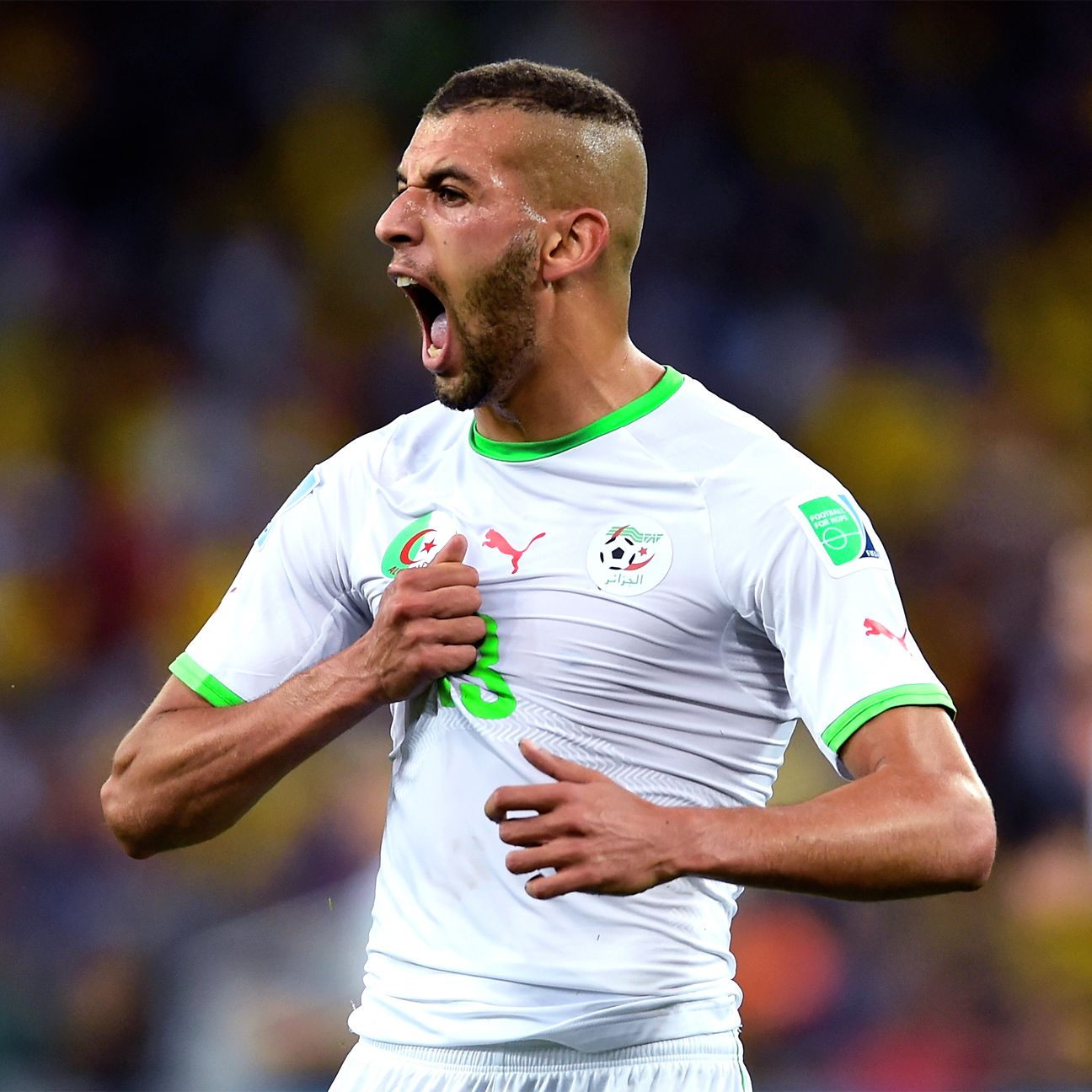 Islam Slimani spearheaded Algeria's run to the last 16 of the World Cup.