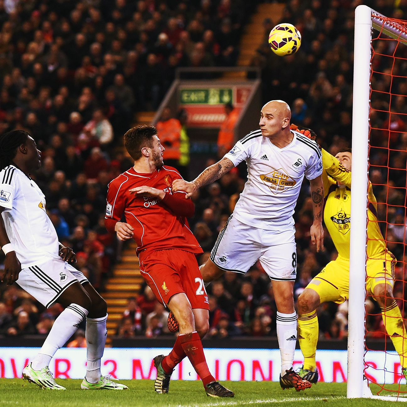 Jonjo Shelvey's miserable night at Anfield was capped by his second half own goal.