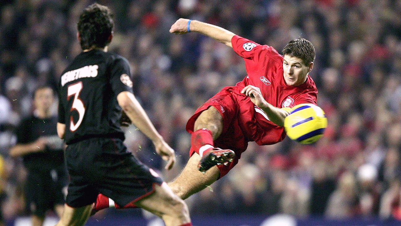 Steven Gerrard Five of his best goals ESPN FC