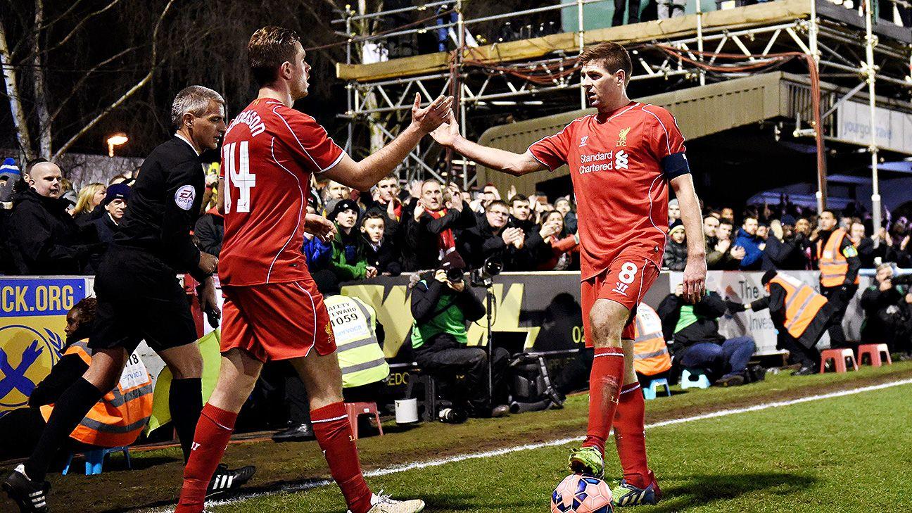 Steven Gerrard did not seem the slightest bit distracted in scoring both Liverpool goals on the evening.