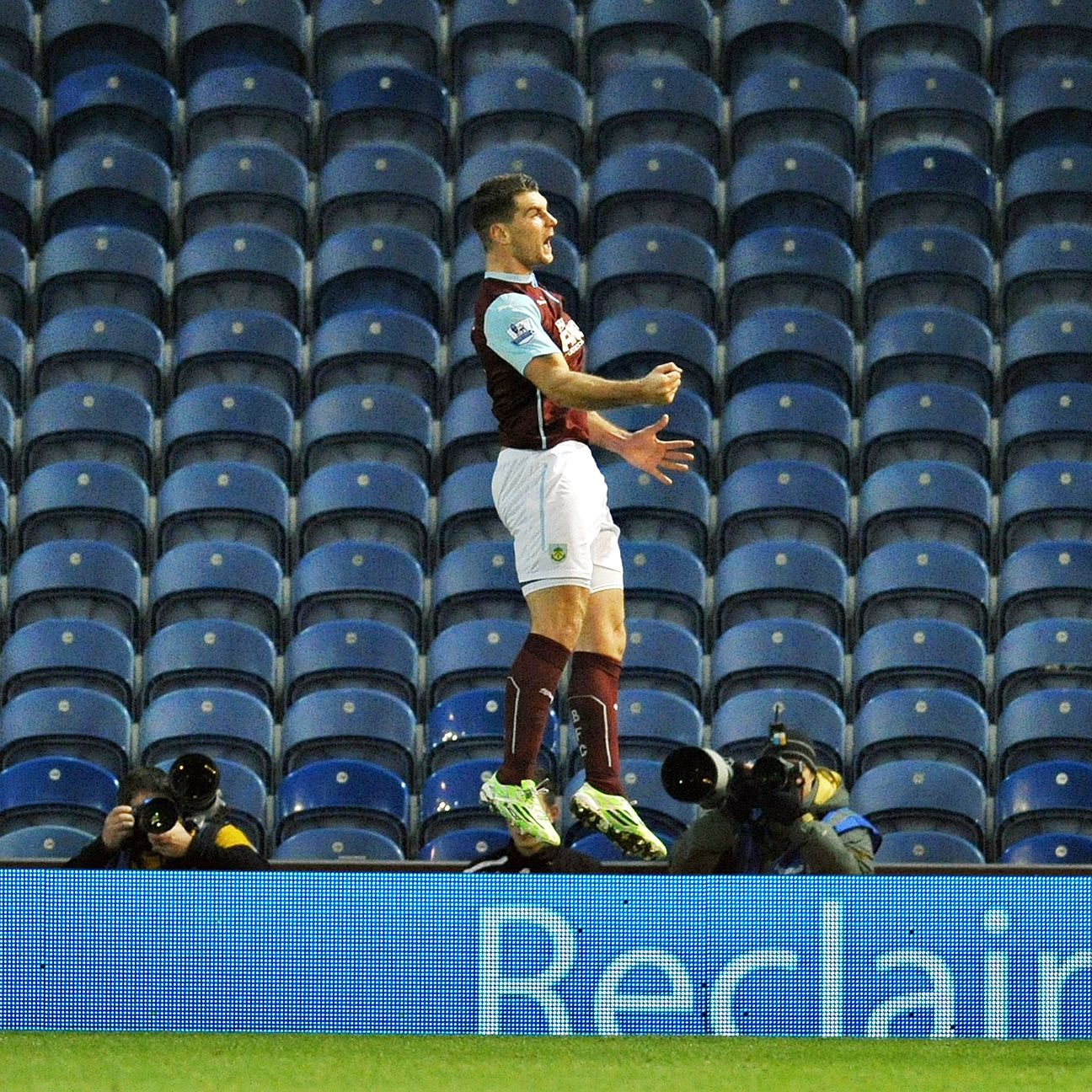 There weren't many there to see it, but Burnley's Sam Vokes scored his first goal since his long-term injury last March.