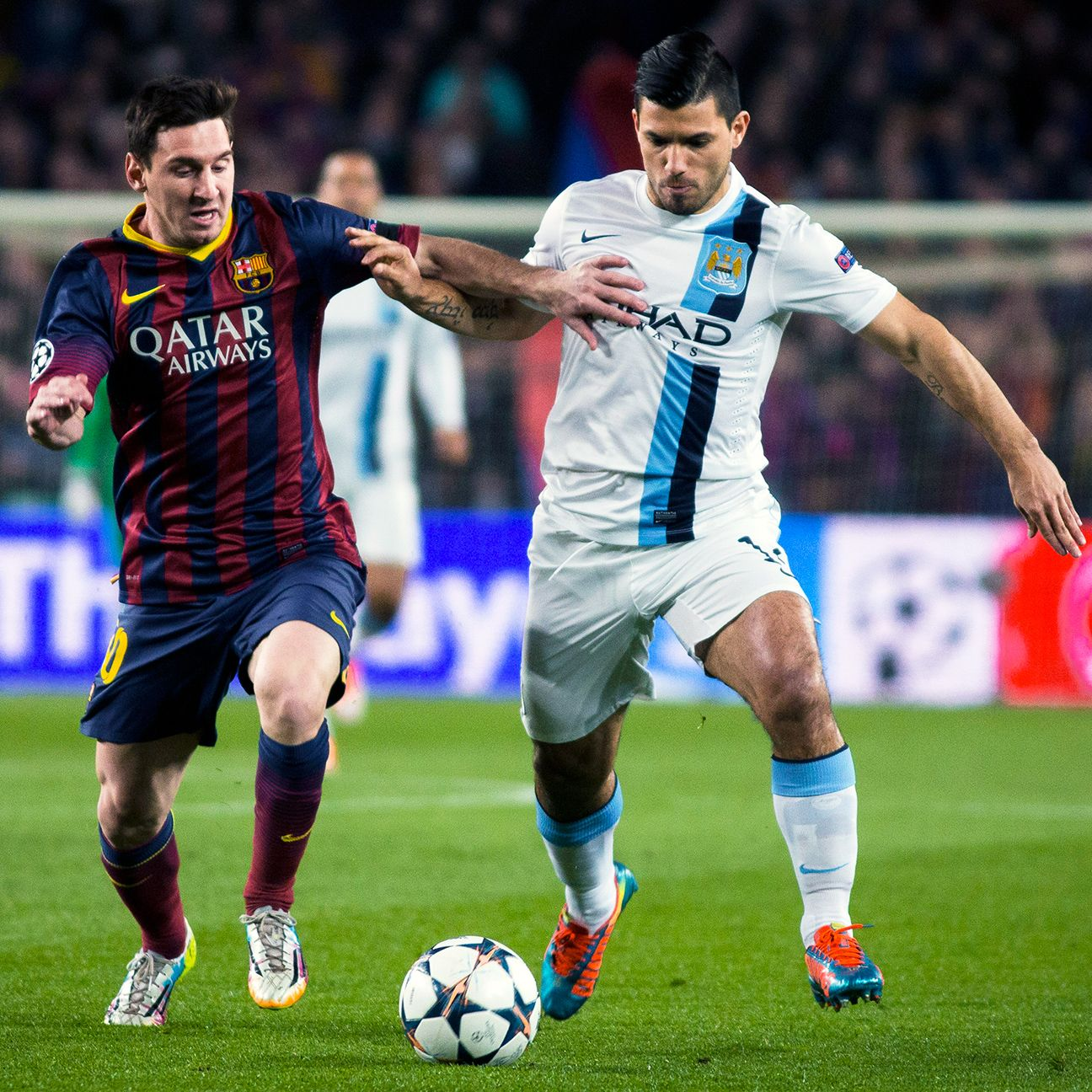 Who will come out on top when Lionel Messi and Barcelona take on Manchester City and Sergio Aguero?