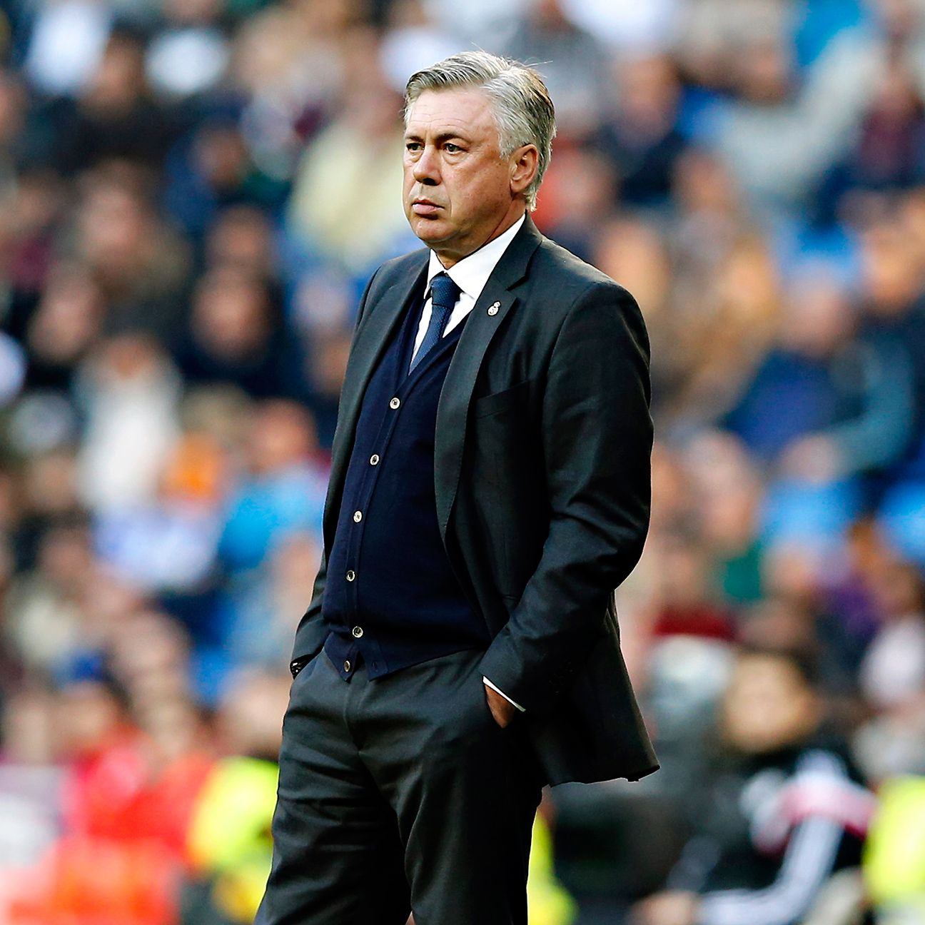 Real boss Carlo Ancelotti bore the brunt of the Bernabeu's displeasure toward their team.