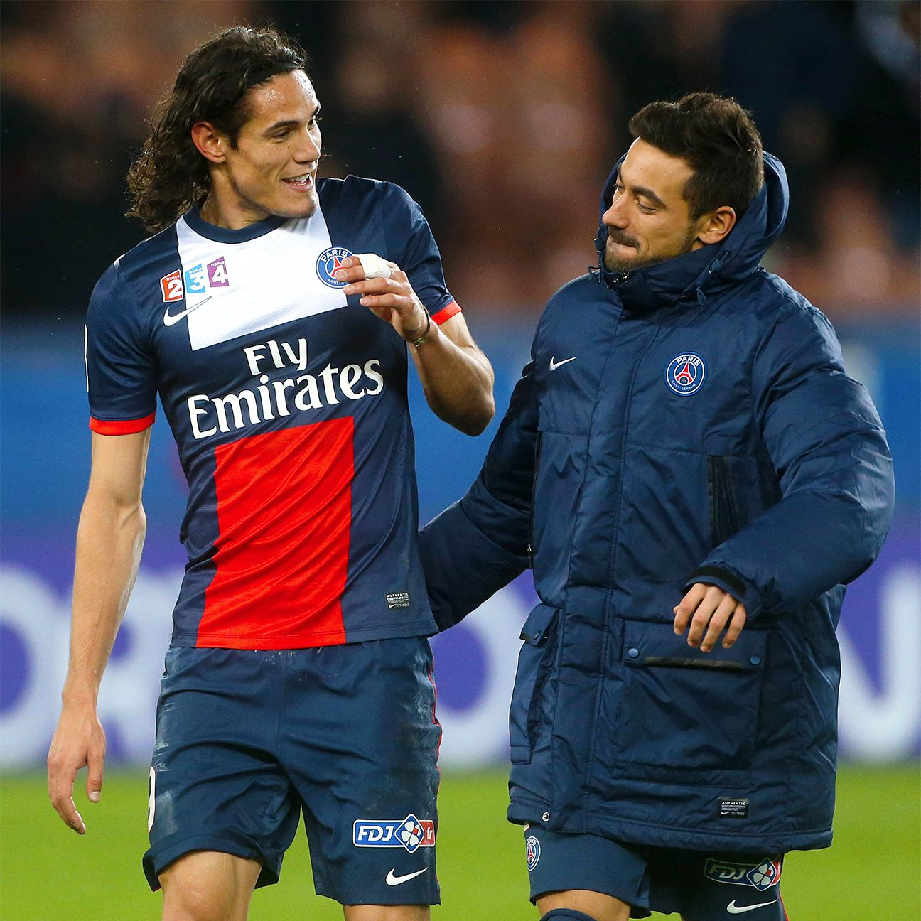 Neither Edinson Cavani, left, nor Ezequiel Lavezzi, right, have featured for PSG thus far in 2015.