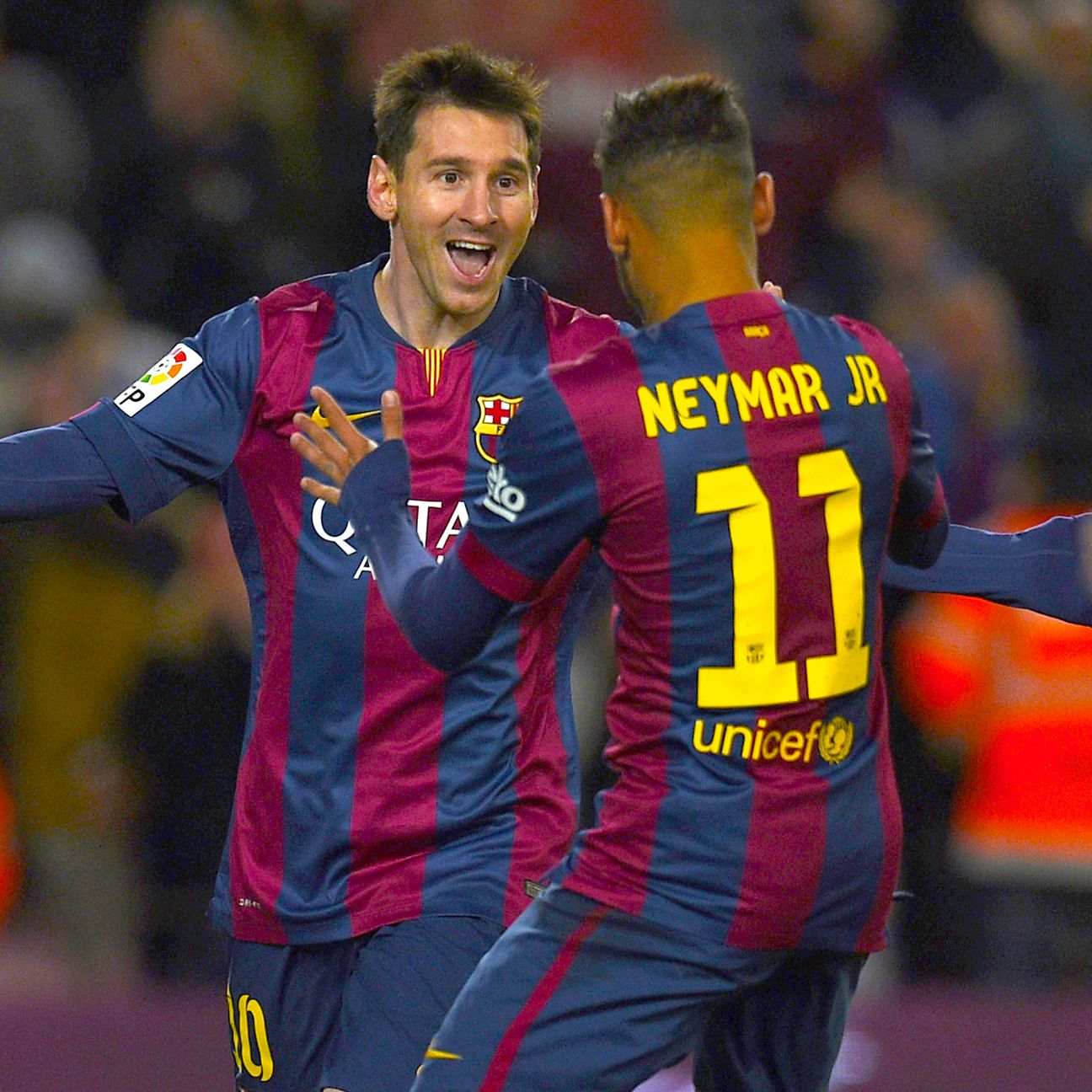 If Neymar scores for Barcelona, there is a good chance it was assisted by Lionel Messi.