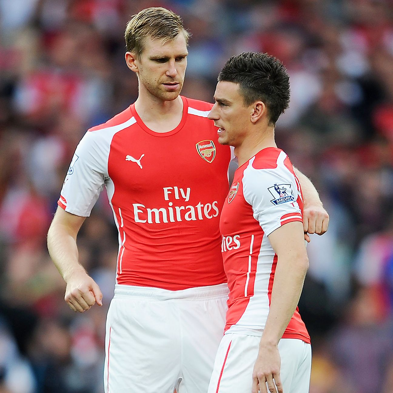 Laurent Koscielny, right, and Per Mertesacker have stepped up in the second half of the season.