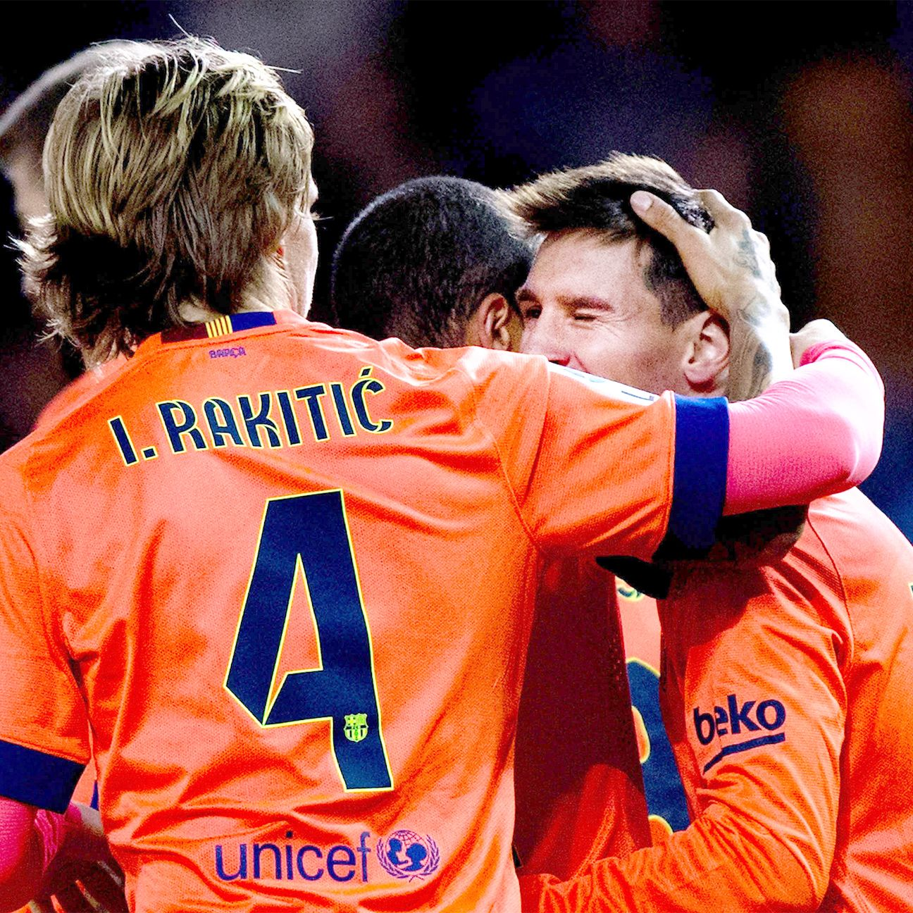 Ivan Rakitic and Messi proved quite the playmaking pair, as they connected three times against Deportivo.