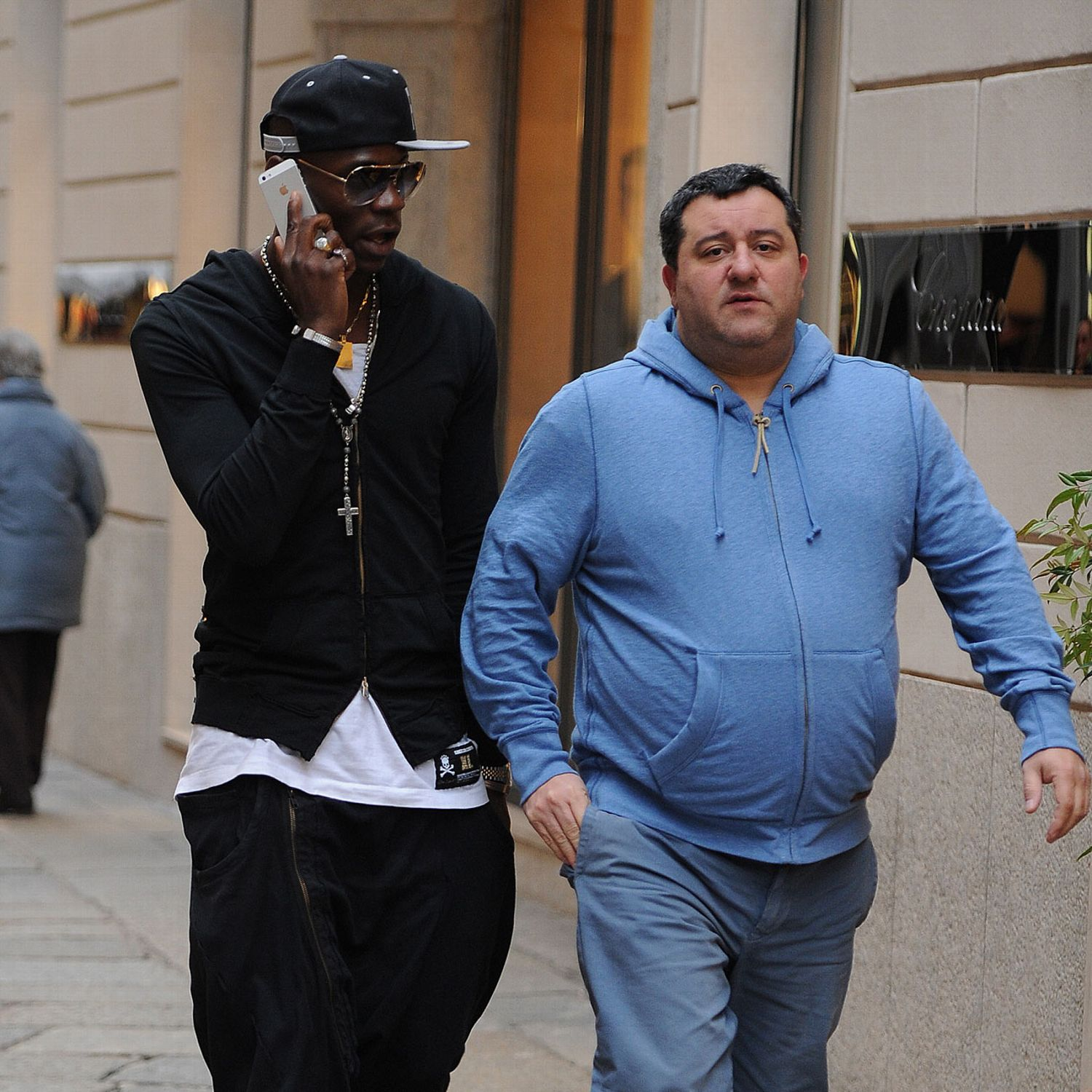 Photo of Mino Raiola & his friend   -