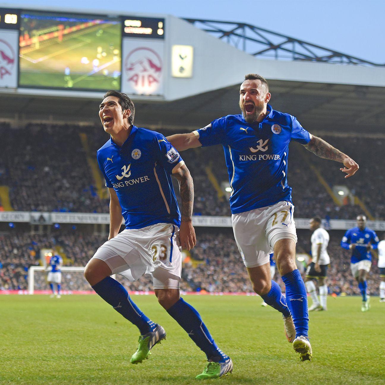 Leo Ulloa helped spark Leicester City's FA Cup comeback at Tottenham.