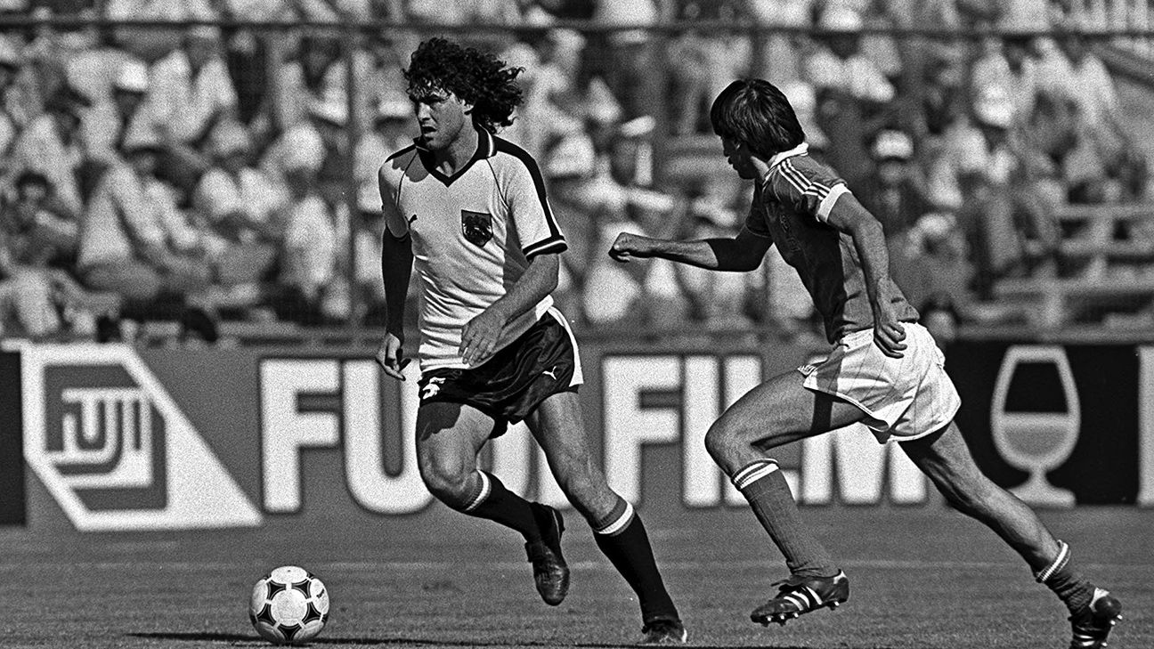 Bruno Pezzey competed in both the 1978 and the 1982 World Cups for Austria.