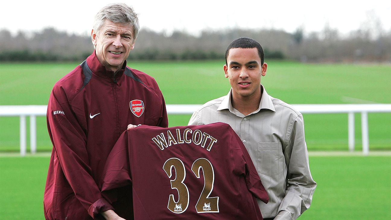 Months after joining Arsenal in January 2006, Theo Walcott found himself on England's World Cup squad.